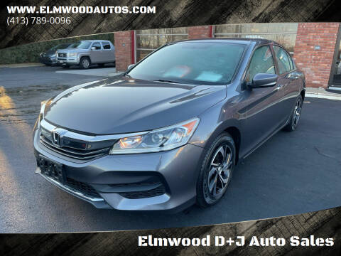 2016 Honda Accord for sale at Elmwood D+J Auto Sales in Agawam MA