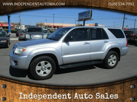 2007 Toyota 4Runner for sale at Independent Auto Sales #2 in Spokane WA