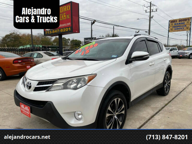 2015 Toyota RAV4 for sale at Alejandro Cars & Trucks Inc in Houston TX