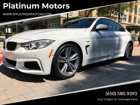 2014 BMW 4 Series for sale at Platinum Motors in San Bruno CA