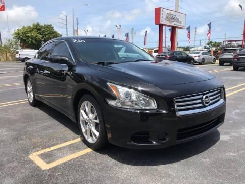 2014 Nissan Maxima for sale at LKG Auto Sales Inc in Miami FL