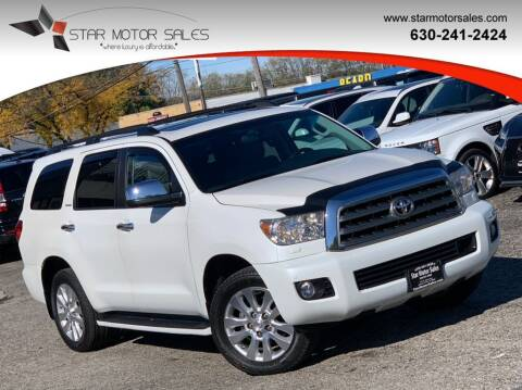 2014 Toyota Sequoia for sale at Star Motor Sales in Downers Grove IL