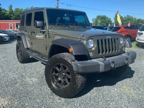2016 Jeep Wrangler Unlimited for sale at A&M Auto Sales in Edgewood MD