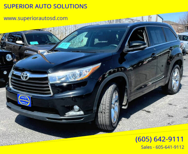 2014 Toyota Highlander for sale at SUPERIOR AUTO SOLUTIONS in Spearfish SD