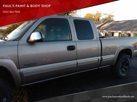2002 Chevrolet Silverado 1500 for sale at PAUL'S PAINT & BODY SHOP in Des Moines IA