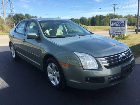2008 Ford Fusion for sale at SIMPSON MOTORS in Youngstown OH