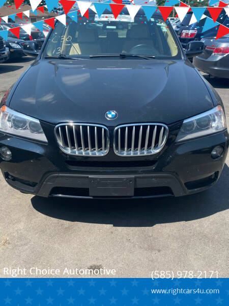 2013 BMW X3 for sale at Right Choice Automotive in Rochester NY