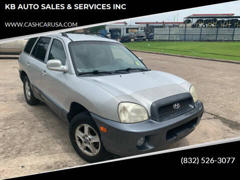 2004 Hyundai Santa Fe for sale at KB AUTO SALES & SERVICES INC in Houston TX