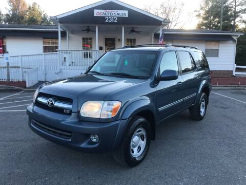 2006 Toyota Sequoia for sale at CVC AUTO SALES in Durham NC