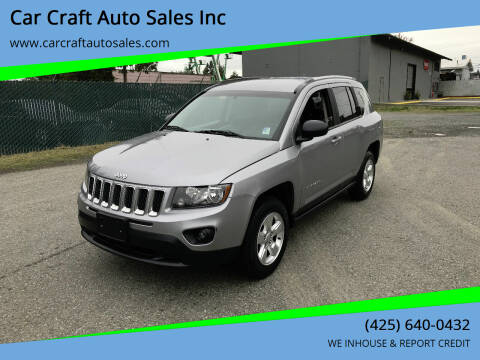 2015 Jeep Compass for sale at Car Craft Auto Sales Inc in Lynnwood WA