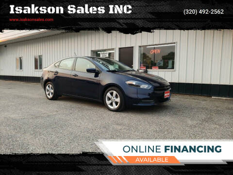 2015 Dodge Dart for sale at Isakson Sales INC in Waite Park MN