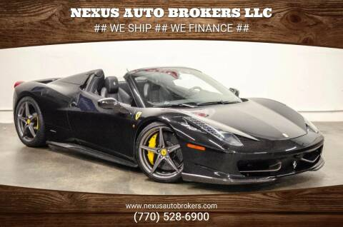 2014 Ferrari 458 Spider for sale at Nexus Auto Brokers LLC in Marietta GA