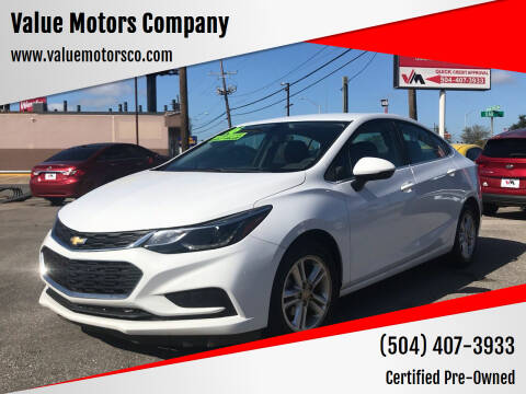 2016 Chevrolet Cruze for sale at Value Motors Company in Marrero LA
