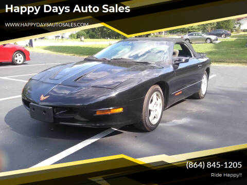 1995 Pontiac Firebird for sale at Happy Days Auto Sales in Piedmont SC