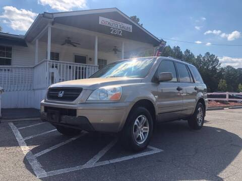 2004 Honda Pilot for sale at CVC AUTO SALES in Durham NC