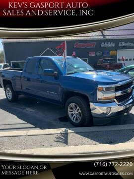 2016 Chevrolet Silverado 1500 for sale at KEV'S GASPORT AUTO SALES AND SERVICE, INC in Gasport NY