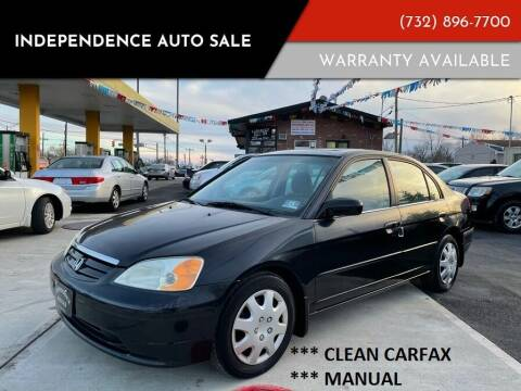 2002 Honda Civic for sale at Independence Auto Sale in Bordentown NJ