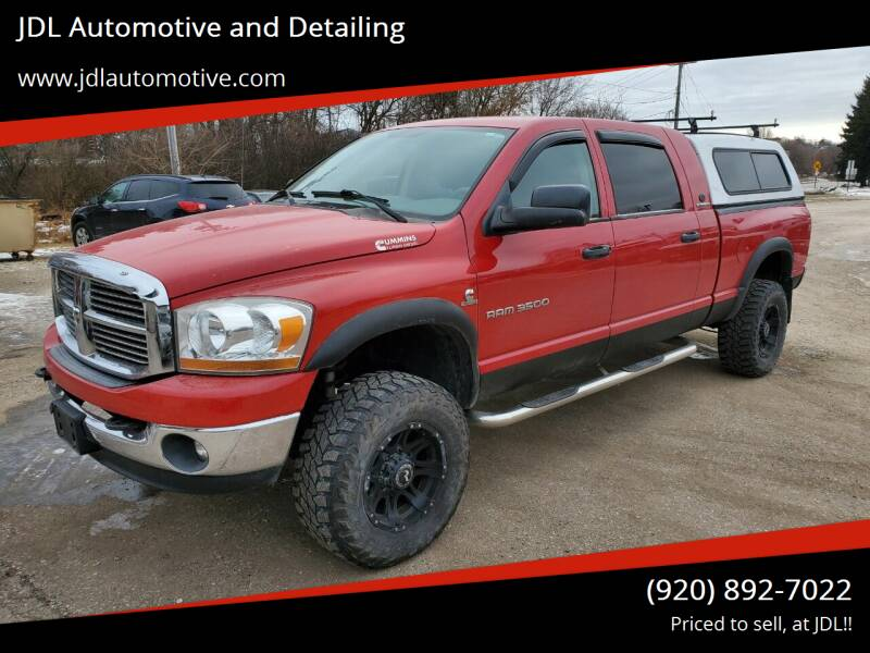 2006 Dodge Ram Pickup 3500 for sale at JDL Automotive and Detailing in Plymouth WI