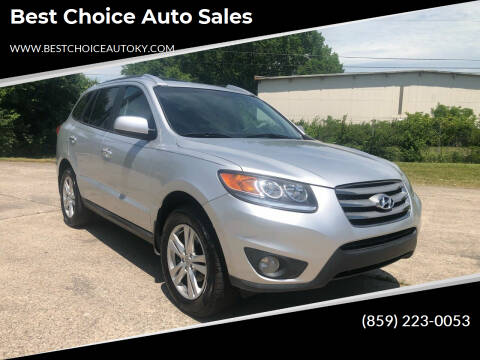 2012 Hyundai Santa Fe for sale at Best Choice Auto Sales in Lexington KY