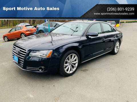 2012 Audi A8 for sale at Sport Motive Auto Sales in Seattle WA