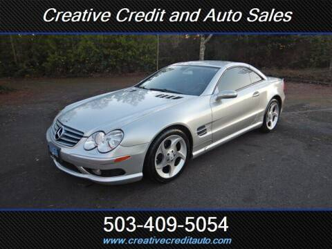 2005 Mercedes-Benz SL-Class for sale at Creative Credit & Auto Sales in Salem OR
