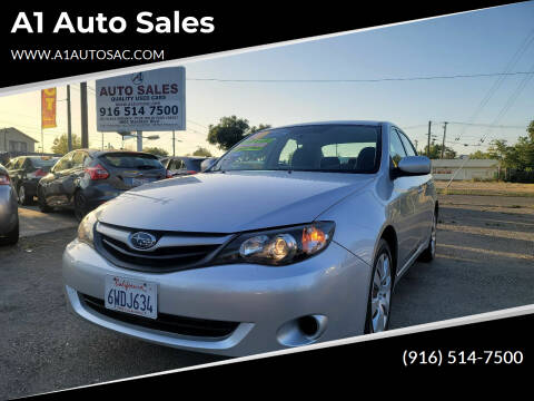 2010 Subaru Impreza for sale at A1 Auto Sales in Sacramento CA
