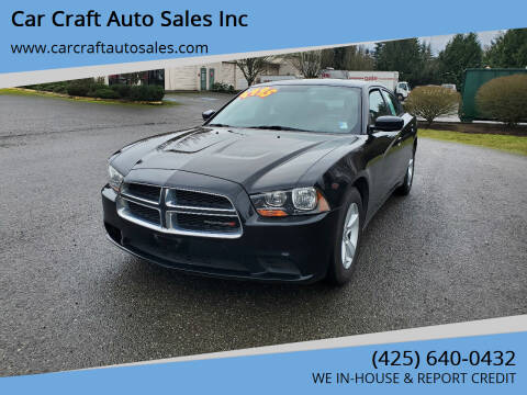 2013 Dodge Charger for sale at Car Craft Auto Sales Inc in Lynnwood WA