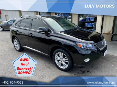 2011 Lexus RX 450h for sale at Luly Motors in Lincoln NE