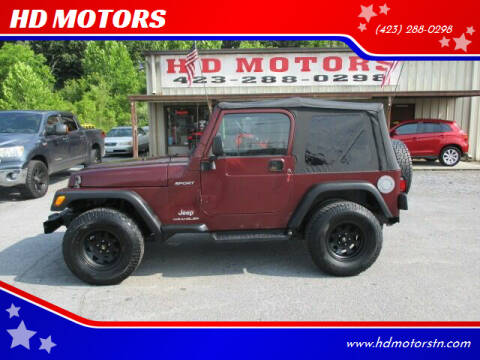 2003 Jeep Wrangler for sale at HD MOTORS in Kingsport TN
