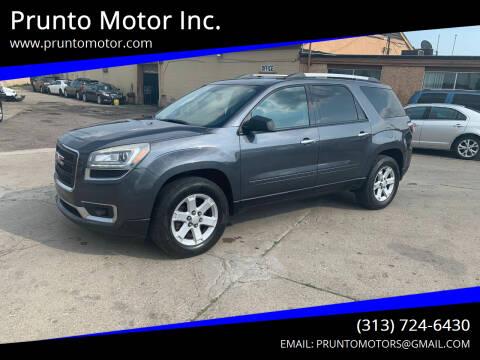 2013 GMC Acadia for sale at Prunto Motor Inc. in Dearborn MI