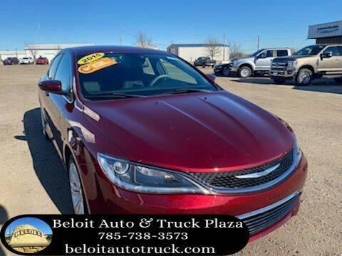 2015 Chrysler 200 for sale at BELOIT AUTO & TRUCK PLAZA INC in Beloit KS