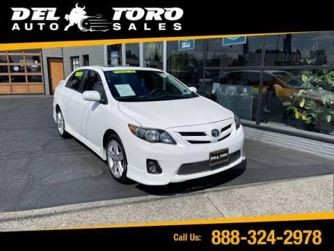 2013 Toyota Corolla for sale at DEL TORO AUTO SALES in Auburn WA