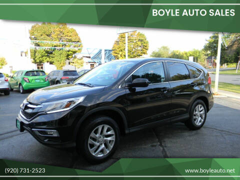 2016 Honda CR-V for sale at Boyle Auto Sales in Appleton WI
