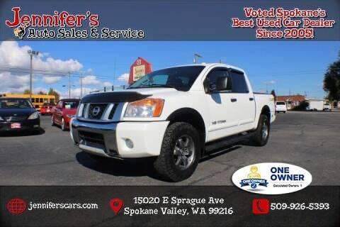 2014 Nissan Titan for sale at Jennifer's Auto Sales in Spokane Valley WA