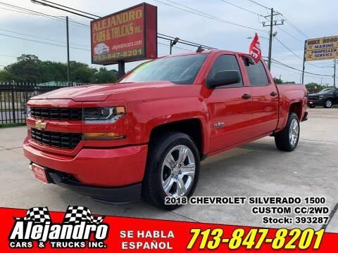 2018 Chevrolet Silverado 1500 for sale at Alejandro Cars & Trucks Inc in Houston TX