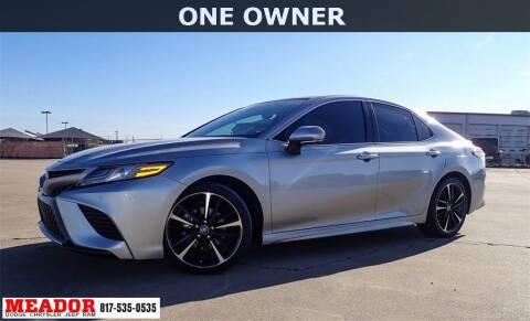 2018 Toyota Camry for sale at Meador Dodge Chrysler Jeep RAM in Fort Worth TX