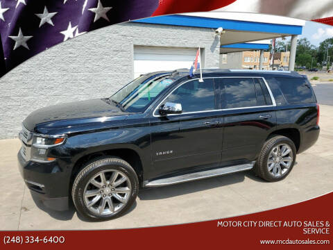 2015 Chevrolet Tahoe for sale at Motor City Direct Auto Sales & Service in Pontiac MI