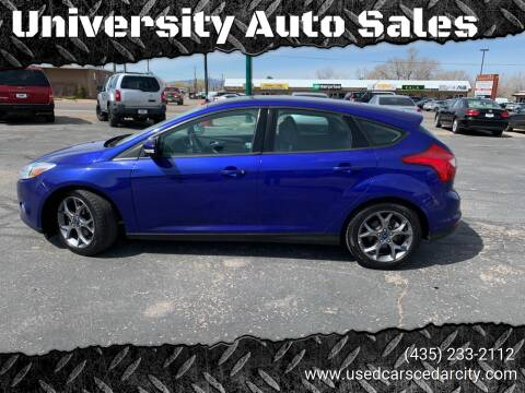 2014 Ford Focus for sale at University Auto Sales in Cedar City UT