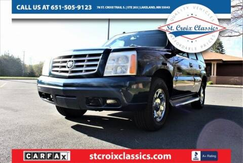 2005 Cadillac Escalade for sale at St. Croix Classics in Lakeland MN