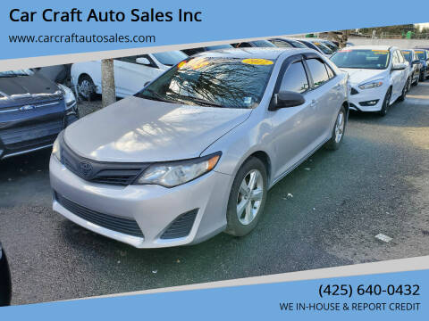2012 Toyota Camry for sale at Car Craft Auto Sales Inc in Lynnwood WA