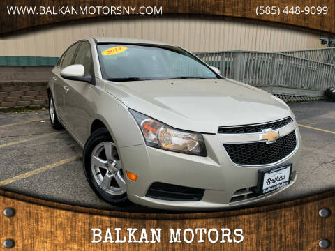 2014 Chevrolet Cruze for sale at BALKAN MOTORS in East Rochester NY