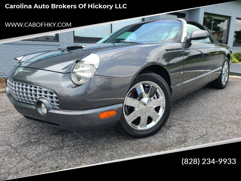 2003 Ford Thunderbird for sale at Carolina Auto Brokers of Hickory LLC in Newton NC