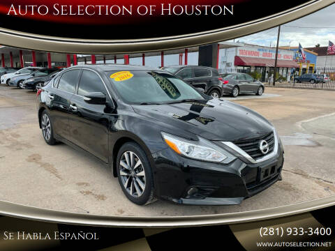 2016 Nissan Altima for sale at Auto Selection of Houston in Houston TX