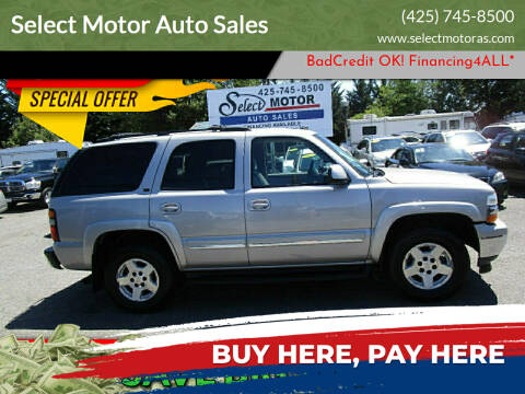 2005 Chevrolet Tahoe for sale at Select Motor Auto Sales in Lynnwood WA