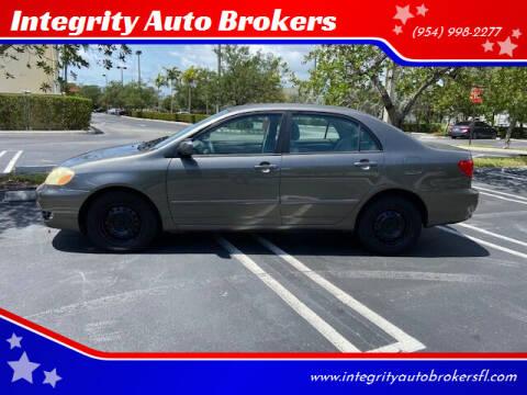 2007 Toyota Corolla for sale at Integrity Auto Brokers in Pompano Beach FL