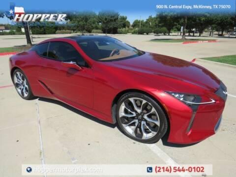 2019 Lexus LC 500 for sale at HOPPER MOTORPLEX in Mckinney TX
