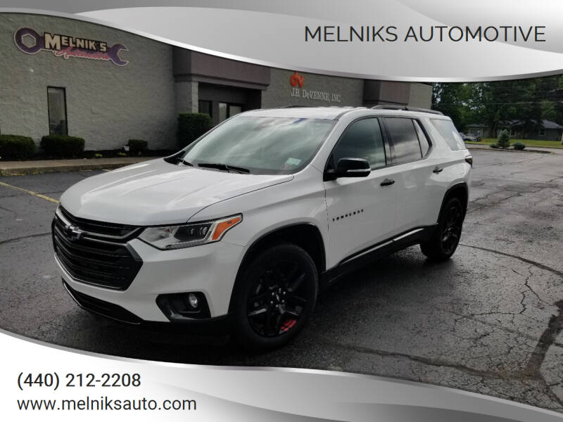 2019 Chevrolet Traverse for sale at Melniks Automotive in Berea OH