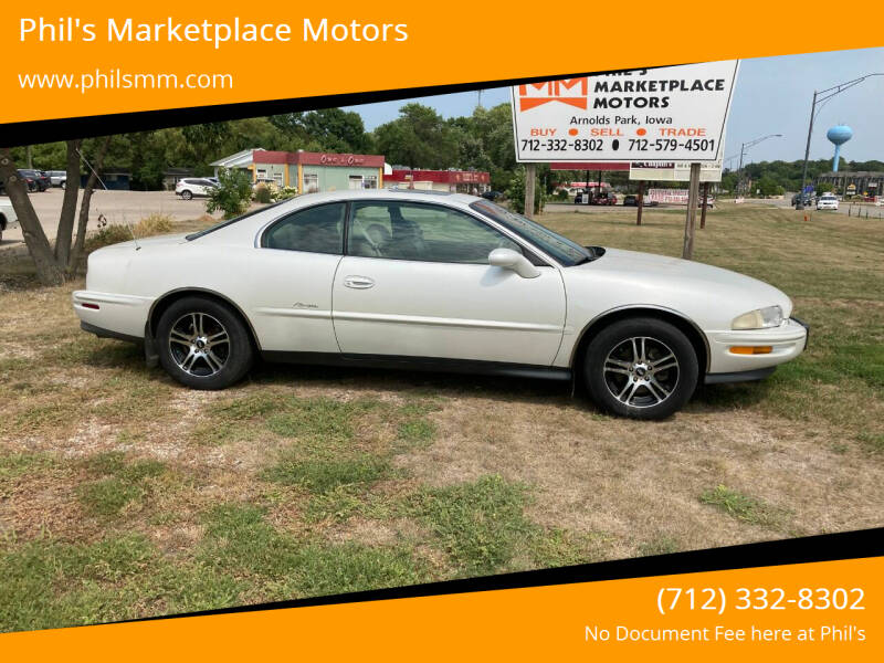 1999 Buick Riviera for sale at Phil's Marketplace Motors in Arnolds Park IA