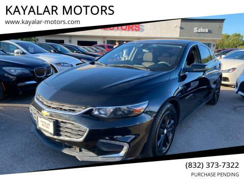 2016 Chevrolet Malibu for sale at KAYALAR MOTORS in Houston TX