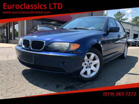 2004 BMW 3 Series for sale at Euroclassics LTD in Durham NC
